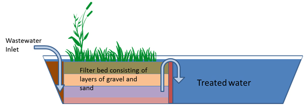 Figure 3: Schematics of constructed wetland